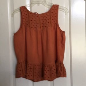 ABERCROMBIE & FITCH orange casual top
